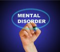 Mental disorder writing word with marker on gradient background made in d software Stock Images