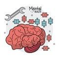 Mental health brain puzzle innovation Royalty Free Stock Photo