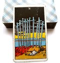 Ten of Swords Tarot Card Exhaustion Defeat Failure Ruin Royalty Free Stock Photo
