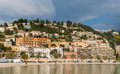 Menton city in february french riviera Stock Photos