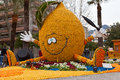 MENTON, FRANCE - FEBRUARY 27: Lemon Festival (Fete du Citron) on the French Riviera. Royalty Free Stock Photo