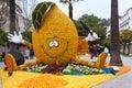 MENTON, FRANCE - FEBRUARY 27: Lemon Festival (Fete du Citron) on the French Riviera. Royalty Free Stock Photo