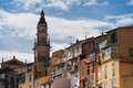 Menton france view of the beautiful historic centre of a turistic town in the coast of cote dazur Stock Photo