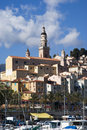 Menton french riviera tourist destination on Stock Image