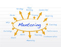 Mentoring Model Diagram Illust...