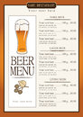 Menu for beer Royalty Free Stock Photo