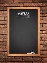 Menu blackboard Royalty Free Stock Photo