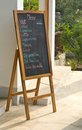 Menu board in cafe Stock Images