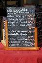 Menu board in France Royalty Free Stock Image