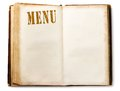 Menu book Stock Images