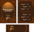 Menu for cafe and horizontally banner Royalty Free Stock Photography