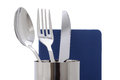 Menu card book with fork and knife with spoon Royalty Free Stock Photography