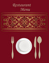 Menu Card Design Stock Image