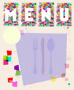 Menu card, design template Stock Photos