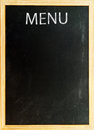 Menu card old chalk board with word Royalty Free Stock Photography