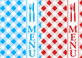 Menu Card - Red and Blue Gingham Royalty Free Stock Photos