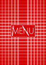 Menu Card - Red Gingham Royalty Free Stock Photo