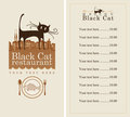 Menu with cat Stock Images