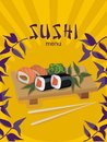 Menu cover for sushi bar Stock Photography