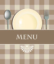 Menu with cutlery Royalty Free Stock Images