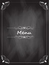 Menu design chalk board texture Stock Photography