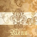 Menu design with heraldic elements Royalty Free Stock Photo