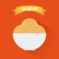 Menu design over orange background vector illustration Royalty Free Stock Photography