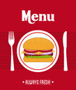 Menu design over red background vector illustration Stock Photography