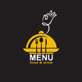Menu design restaurant with plate and steam Royalty Free Stock Photography