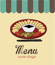 Menu food design over cream background vector illustration Royalty Free Stock Photo