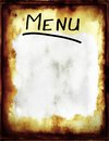 Menu a grunge blank in a old retro style Royalty Free Stock Images