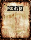 Menu a grunge blank in a old retro style Royalty Free Stock Image