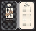 Menu with hands Royalty Free Stock Images