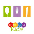 Menu kids Royalty Free Stock Photos