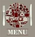 Menu restaurant design Royalty Free Stock Photo