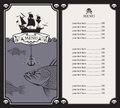 Menu with sailboat Royalty Free Stock Image