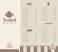 Menu for seafood booklet with small fish Royalty Free Stock Photography