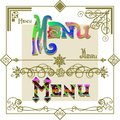 Menu set calligraphic elements vintage ornament Royalty Free Stock Photography