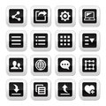 Menu settings tools buttons set vector for web computer mobile device Royalty Free Stock Image