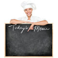 Menu sign chef Stock Image