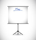 Menu stand on white background illustration design Stock Image