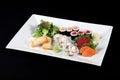 Menu of sushi and sashimi Royalty Free Stock Photo