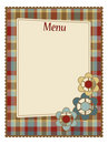 Menu template Royalty Free Stock Photos