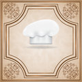 Menu template with chef hat eps Royalty Free Stock Photography