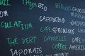 Menu traditional french cafã  background Royalty Free Stock Photos