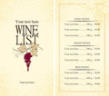 Menu wine Royalty Free Stock Image