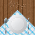 Menu wooden brochure design Stock Image
