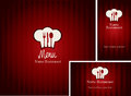 Menus with red background Stock Photo