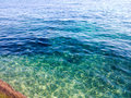 Mer bleue et verte Photo libre de droits