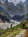 Mer de glace at Mont-Blanc Stock Photo